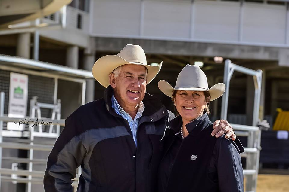 Dedicated Breeders Di & Pete at the 2017 NCHA Select Sale!